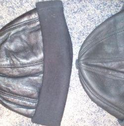 Winter hats genuine leather-fur