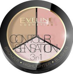 EVELINE CONTOUR SENSATION Face Makeup Palette