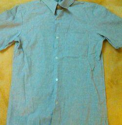 New gray shirt, short sleeve