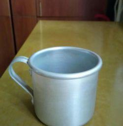 Aluminum mug (price per piece)