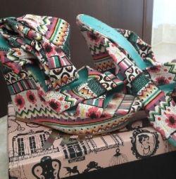 παπούτσια-πλατφορμες killah , no 39, υφασματινα,πολυ άνετα,φορεμένα 3