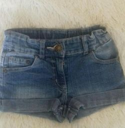 Jeans shorts for girls.