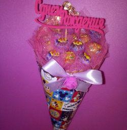 Μπουκέτο γλυκύτητας και δώρα με όλη μου την καρδιά)