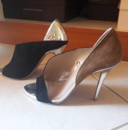 Обувь ZANA chanel, носящаяся несколько раз, трихроматическая, элегантная