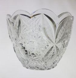 Vase-Candy Crystal USSR