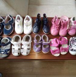 Pantofi pentru fete cu 23-26r