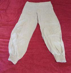 Pantaloni de pantaloni de vara 46 de dimensiuni reduse