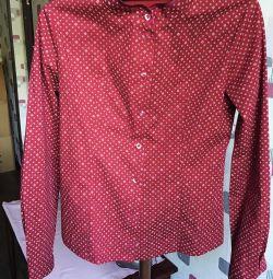 Shirt burgundy for women S size