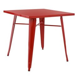 TABLE METAL IN COLOR RED HM0608.07 80x80