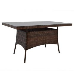 ALUMINUM TABLET RATTAN BROWN HM5140.01 140x80x74