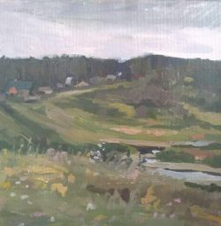 Picture Summer in the country, 35 * 45 oil