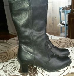 Boots new from genuine leather (autumn-spring)