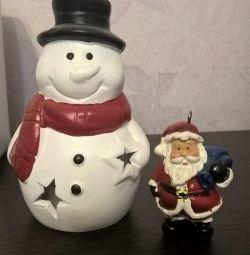 Omul de zăpadă și Moș Crăciun