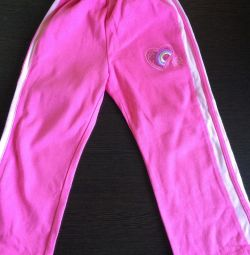 Trousers sports for the girl
