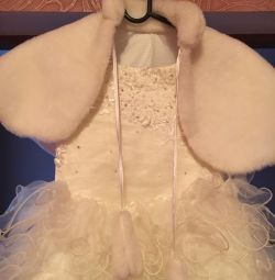 Dress children's and fur cape