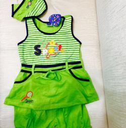 Bebek için yeşil takım