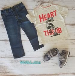 Jeans, Tricou Carters, Adidasi noi