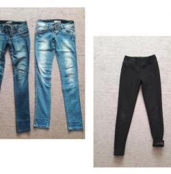Jeans / Lasate încălzite 42-44 razm (pentru toți)
