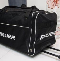Sports bag, hockey trunk on wheels