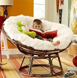 Кресло-качалка из ротанга (б/у)