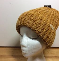 Модная осенняя шапка горчичного цвета, 55-58,ар300
