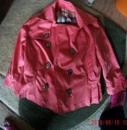 Пиджак на 150-155см, 40-42 размер, коралловый
