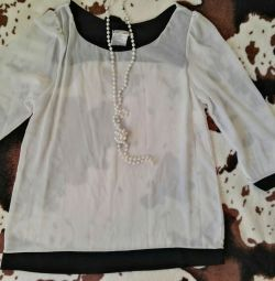 Blouse semi-transparent new design 44-46