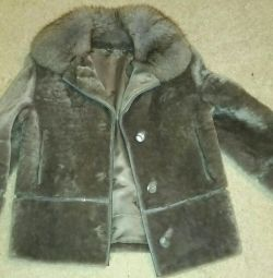 Short fur coat muton
