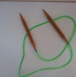 Круговые бамбуковые спицы длиной 100 см