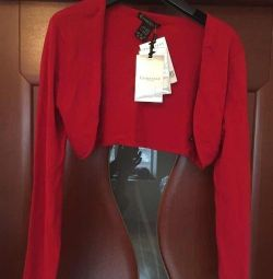 Bolero sleeves new Etincelle France 46 M red