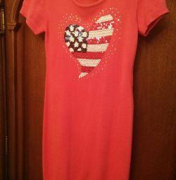 Πλεκτό φόρεμα για ένα κορίτσι ηλικίας 11-13 ετών