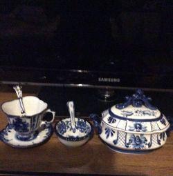 Чайный набор Гжель экскюзив