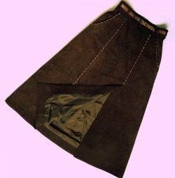 Exclusive suede skirt