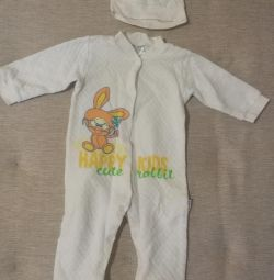 Costume jumpsuit with hat