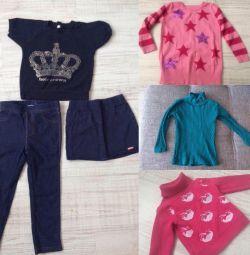 Ρούχα για ένα κορίτσι 86 / 92-6 πράγματα