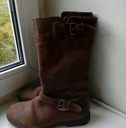 Δερμάτινες μπότες Zara Girls