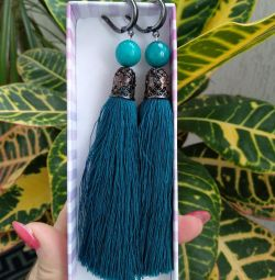 Handmade brush earrings