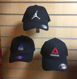 Кепки Reebok, Nike Jordan, adidas, унисекс, новые