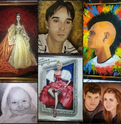 PORTRAITS and paintings to order and in stock