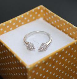 Разъeмное кольцо серебро 925 пробы
