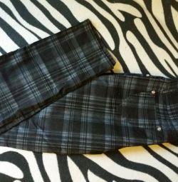 Pantaloni într-o cușcă nou s