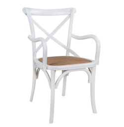 CHRISTMAS FORENZA WOODEN CHAIR HM0105.02 WHITE