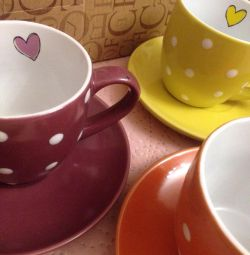 Набор чайных пар 6 шт