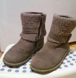 Pantofi de piele de căprioară pentru bebeluși 28