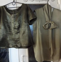 Blouses with short sleeves and sleeves