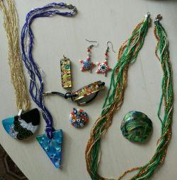 Кулони підвіски браслети з муранського скла