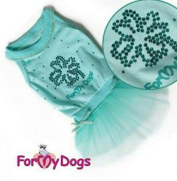 Dress with tulle. skirt (clothes for dogs)