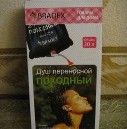 Yeni portatif portatif duş, 20 l. BRADEX firmaları.