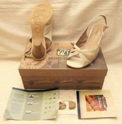 Shoes MUNZ-shoes Germany natur leather in the box p36