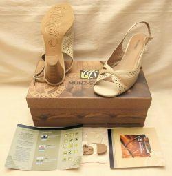 Ayakkabı MUNZ-ayakkabı Almanya doğal deri kutusunda p36